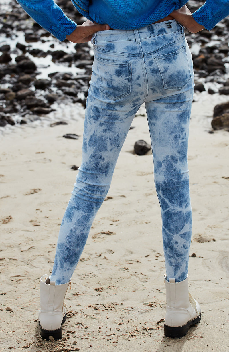 darcy coachella tie dye girls high rise jean