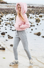 madeline super cozy rolled tie waist girls sweat pant