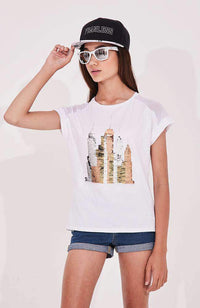 city lights tee