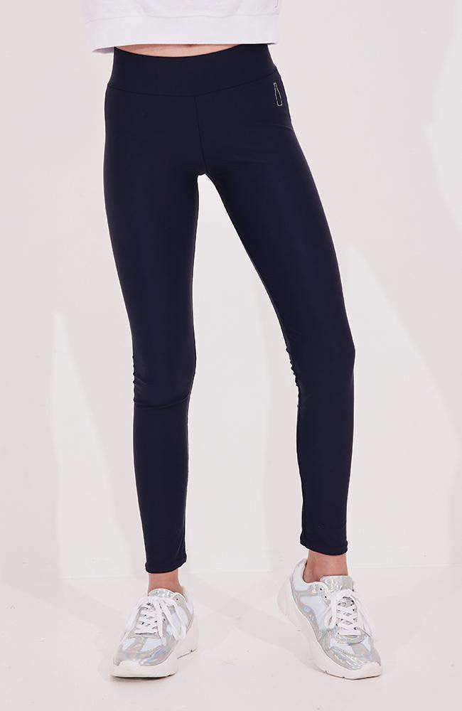 holly navy & white stripe active legging