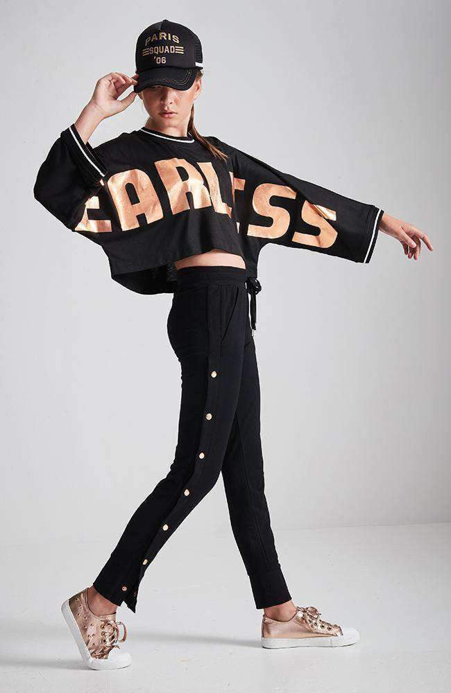 meryl fearless cropped active sweat top