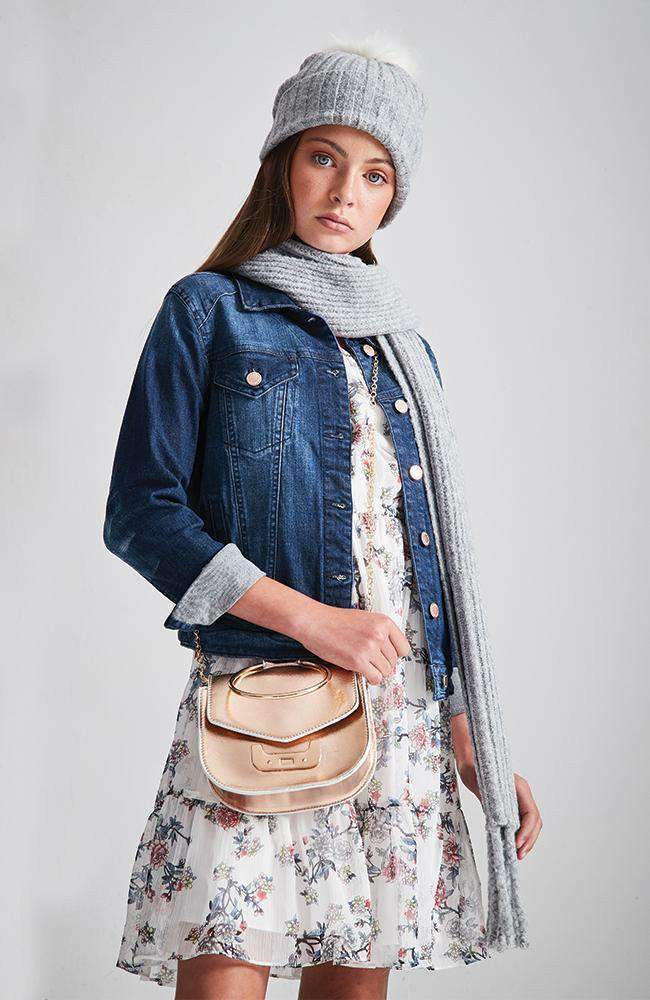 nora stretch dark denim  jacket
