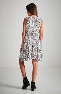anastasia colourful floral ruffle dress