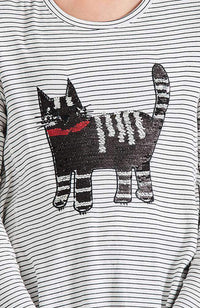 shiny cat tee