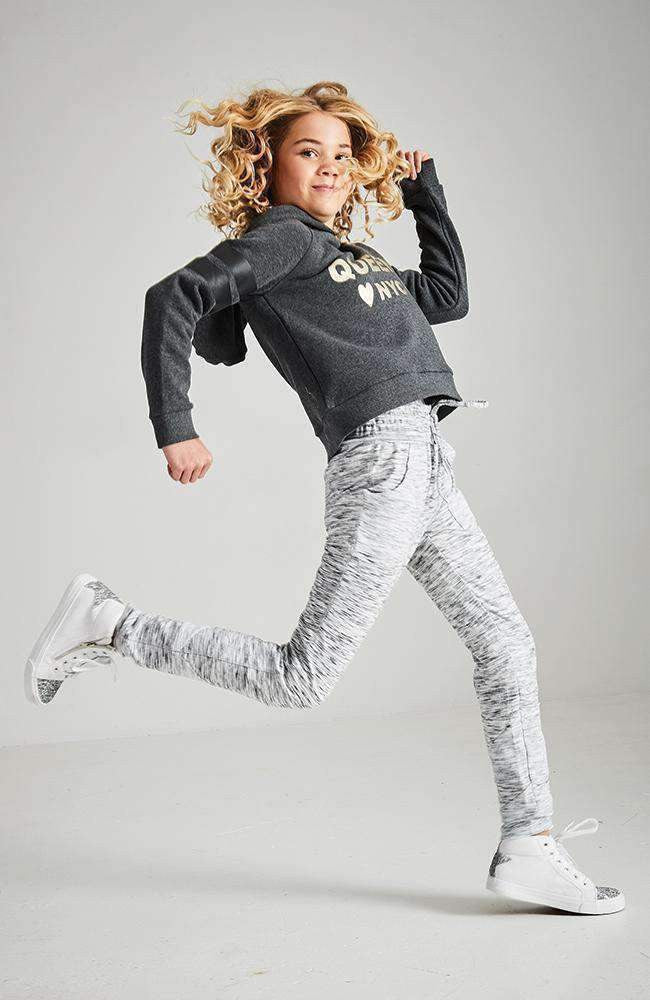 minnie light grey marle active sweat pant