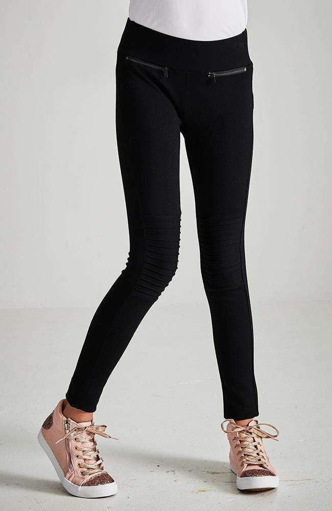priscilla black zip ponte legging