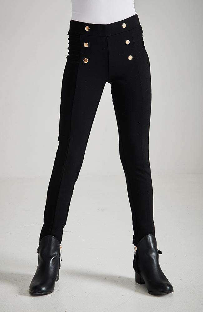 amy black & gold dome ponte legging
