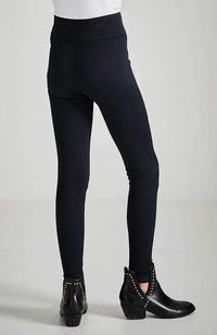 candice classic black ribbed legging