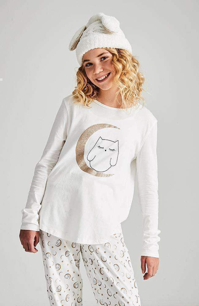 sleepy owl pyjama lounge top