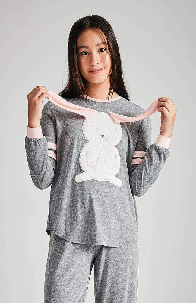 striped bunny pyjama lounge top