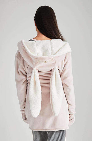 fuzzy lounge hoodie