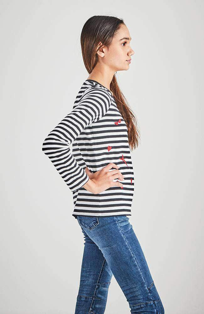 black & white stripe paris fashion tee