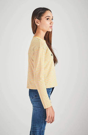 williamsburg yellow stripe long sleeve tee