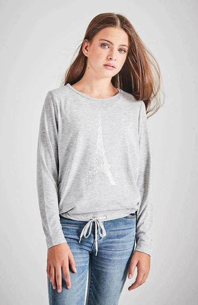 paris glamour silver diamante tee