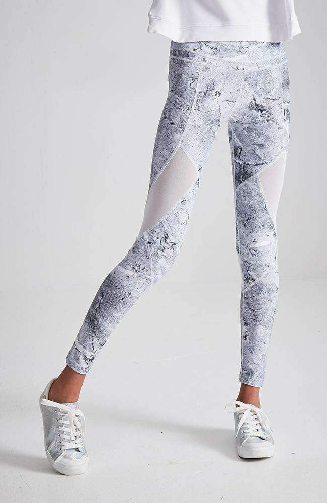 lara grey print active legging
