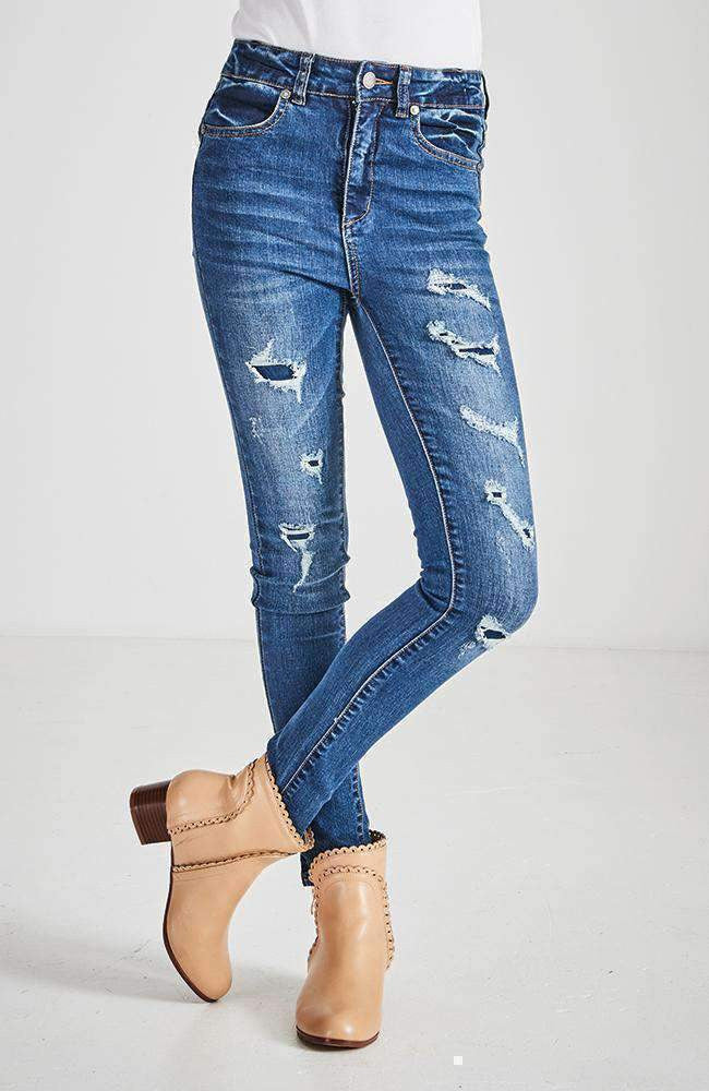libby high rise ripped skinny jean
