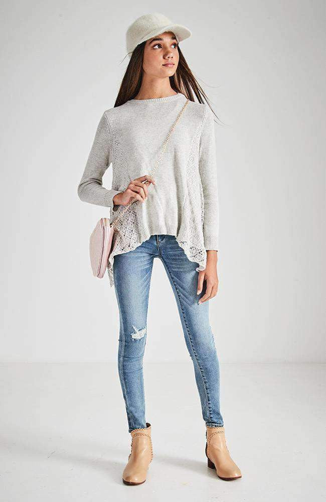 luna high rise ripped skinny jean