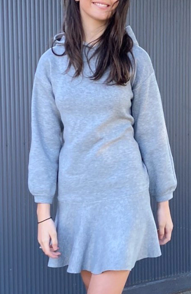 courtney grey hooded soft knit dress