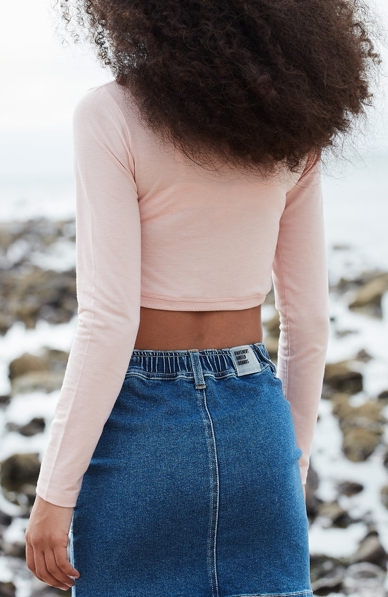 alethea pastel cropped ballet wrap top
