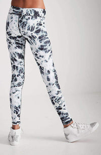camilla black & white tie dye active legging