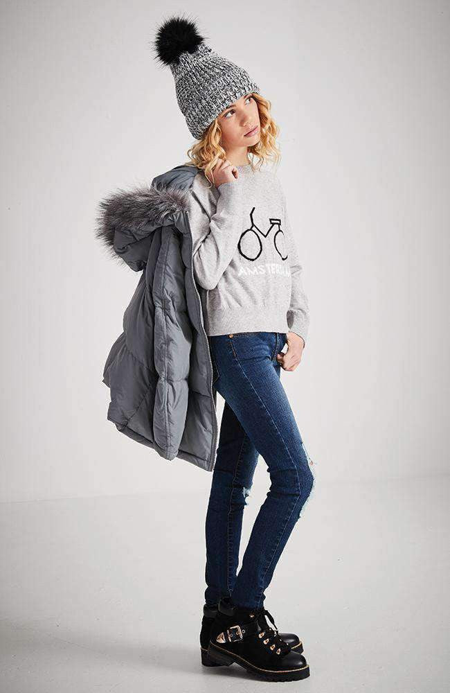 sandra grey amsterdam bicycle knit sweater