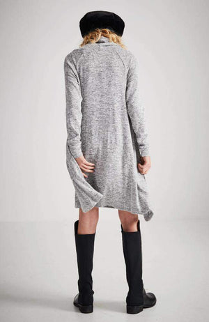 mia grey marle funnel neck soft knit dress