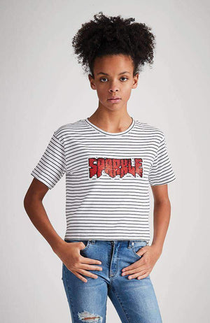 sparkle reversible sequin tee