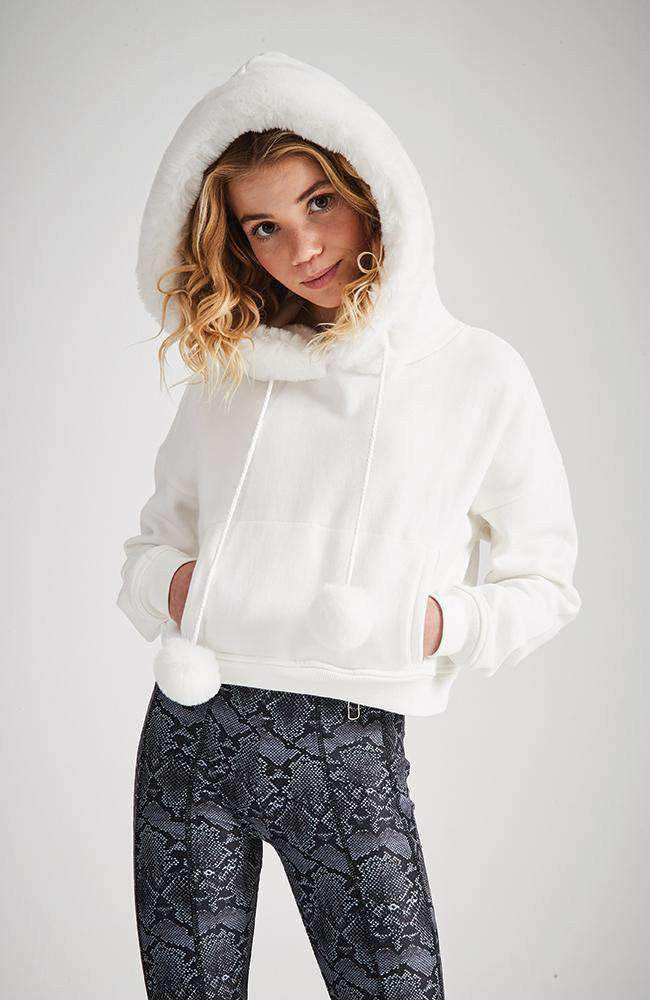 diana pom pom hooded sweat top