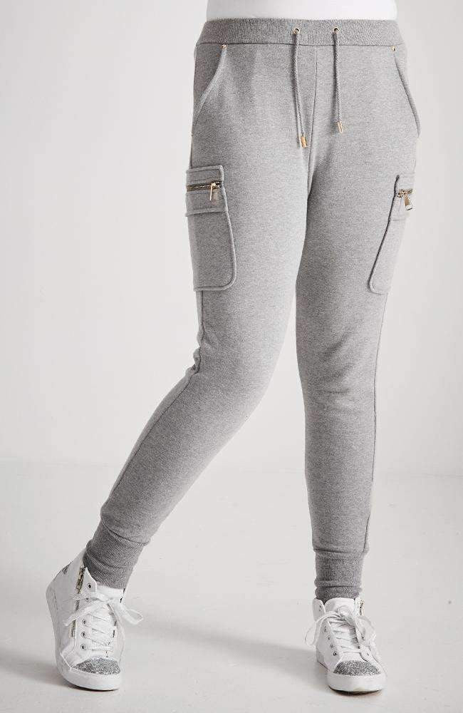 justine gold zip plush sweat pant