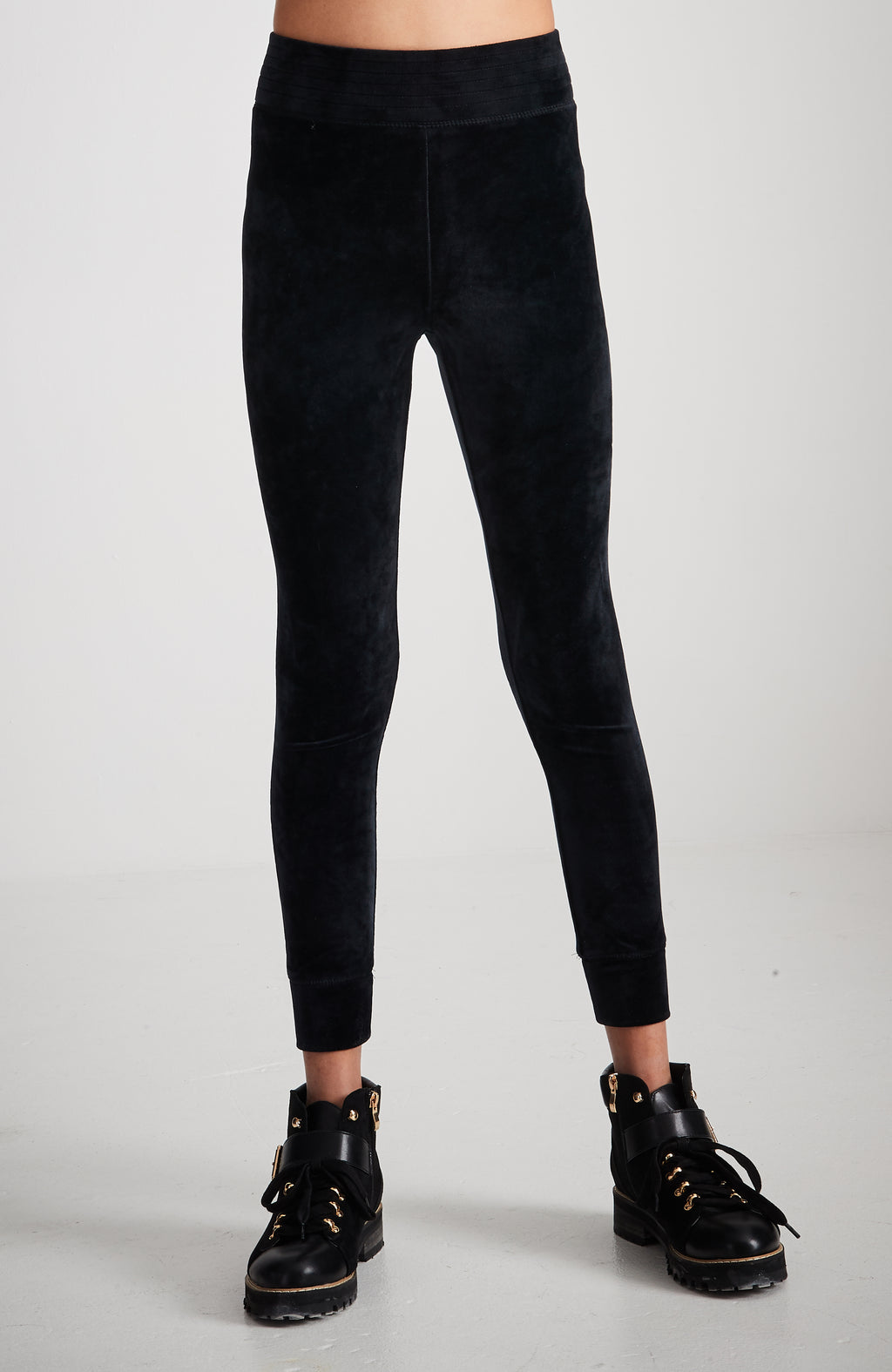 reese soft velour black active legging