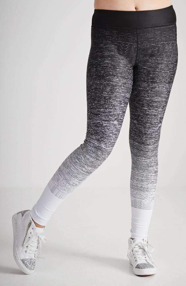 deborah black & grey gradient active legging