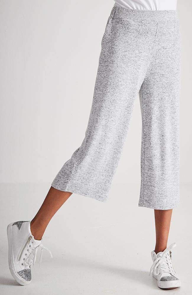sheryl soft grey wide leg 7/8 sweat pant