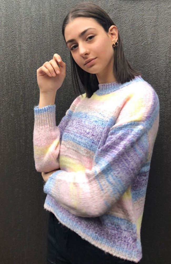 Talisa Rainbow Multicoloured Super Soft Knit Jumper
