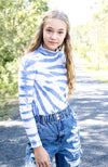 tia tie dye long sleeve girls skivvy tee