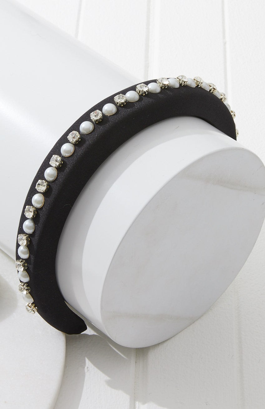 glamour pearl party headband