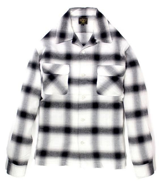 Rayon Shadow Plaid Shirt