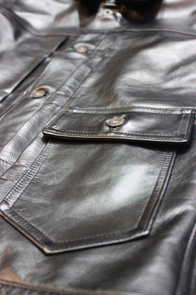 Foremost Style One Pocket Buckleback Leather Jacket