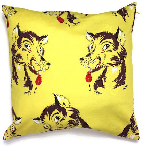 Drooling Wolf Cushion Cover