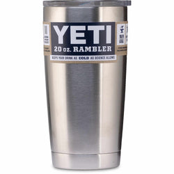Yeti Rambler with Lid, 20oz