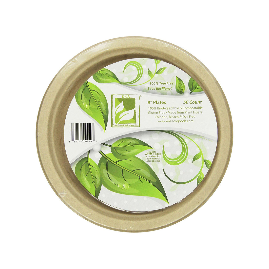 Biodegradable & Compostable Plates, 50 pack