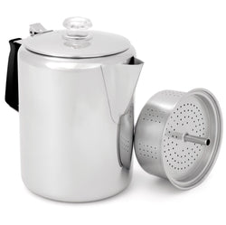 GSI Stainless Steel Coffee Percolator, 12 Cup