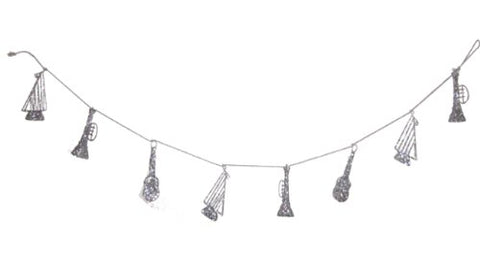 Silver Musical Instruments Garland