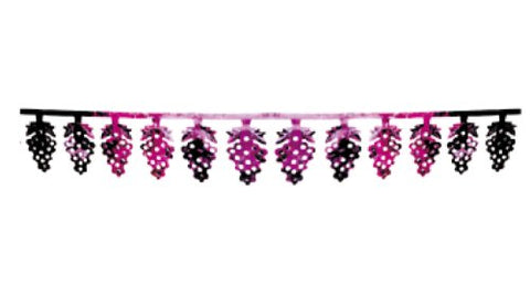 Grape Design Foil Banner Sukkah Decoration