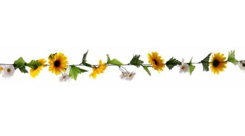 Yellow and White Sunflower Garland