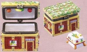 Ceramic Miniature Sukkah Hinged Box with Table