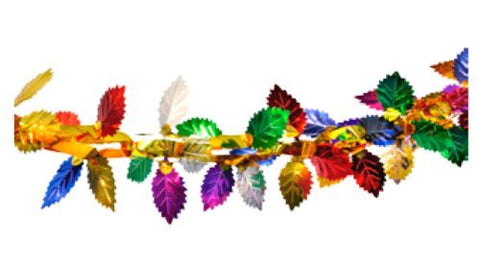Multi-colored Leaf Foil Garland