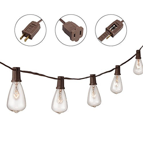 String Lights with 10 Clear Bulbs, 13'