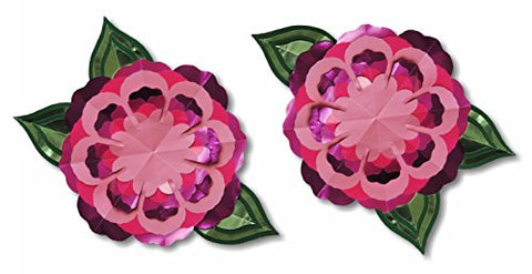 "Do-It-Yourself Paper Craft Kit, Set Of 2 Purple Flowers 6"" x 6"""
