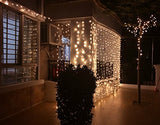10' Curtain Icicle Fairy Lights (Warm White)