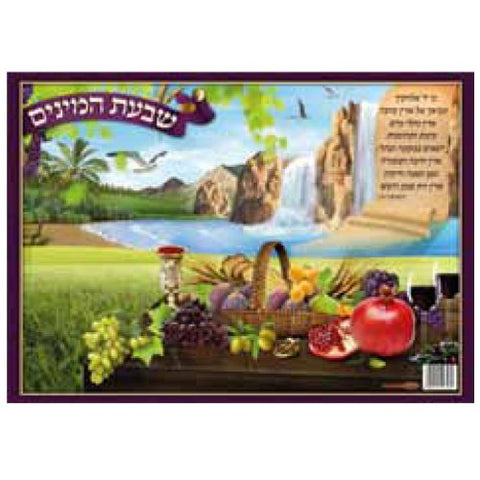 Laminated Shivas Haminim (Seven Species) Sukkah Poster